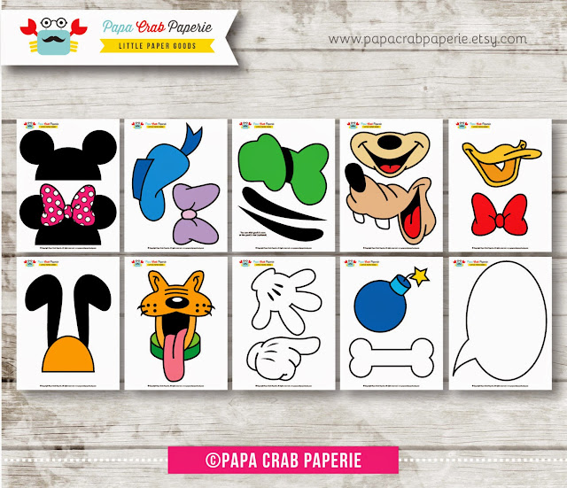 image regarding Mickey Mouse Printable Cutouts named The Possible WAHM: Mickey Mouse Clubhouse Birthday