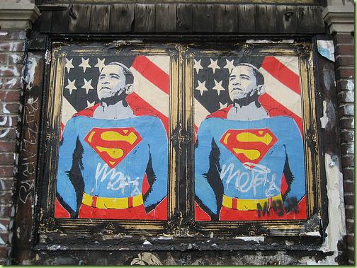 obama superhero