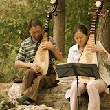 Beijing - Répétition musicale au bord d'une rivière