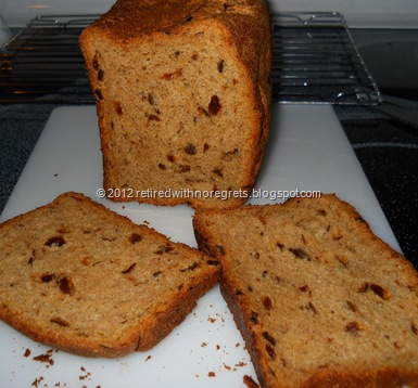 Cinnamon Dried Fruit Bread - Bread Mix - Cooled and sliced