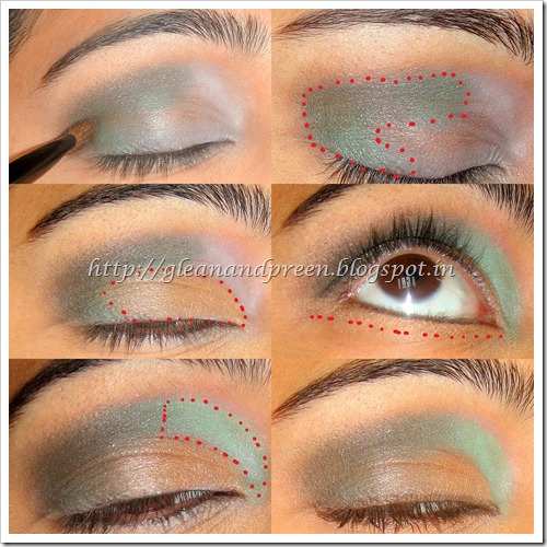 Smokey Golden Green Eyes - Eye Shadow Application