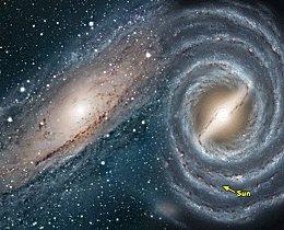 Universo indiferente: futura fusión de nuestra galaxia con Andrómeda