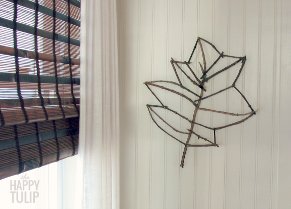 how to make a Joanns-inspired twig leaf