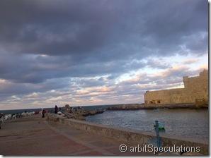 The citadel and the Mediterranean sea
