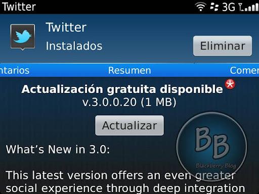 Twitter 3.0 para BlackBerry