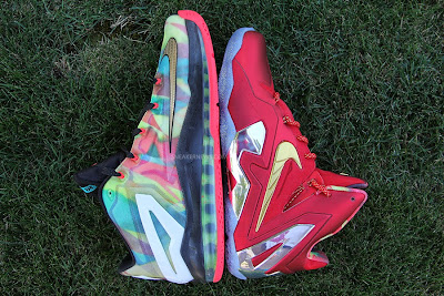 nike lebron 11 low pe championship pack 2 09 LBJ Wears LeBron 11 Low Championship Sample at His Skills Academy