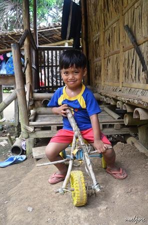 village kid in Mt. Gulugod Baboy