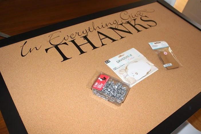 "DIY Thanksgiving ""Gratitude Board"""