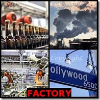FACTORY- 4 Pics 1 Word Answers 3 Letters