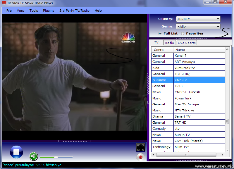 Readon TV Movie Radio Player 7.6.0.0 indir