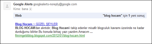 Google Alerts Kimler Link Vermiş?
