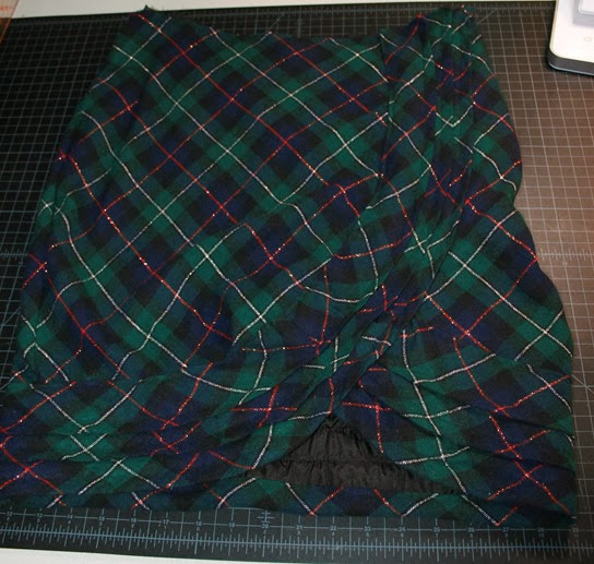wool plaid skirt refashion sew a straight line-8-2