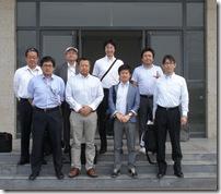 視察団のメンバー