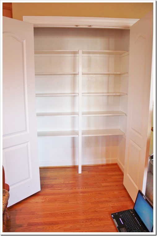 Easiest Pantry Or Closet Shelving Ana White Woodworking