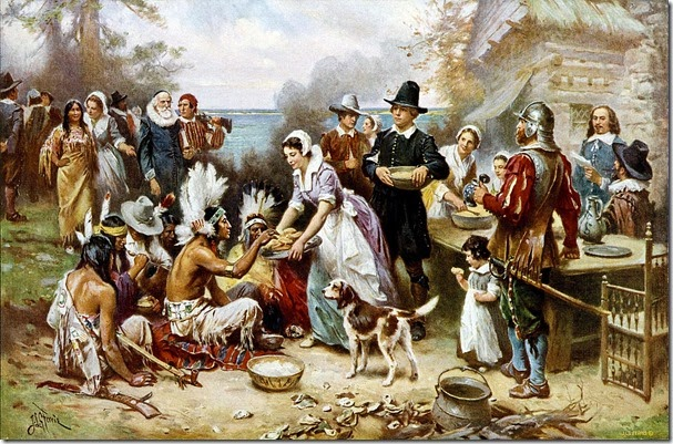 First Thanksgiving. Jean Leon Gerome Ferris (1899)