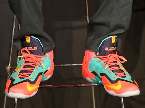 James8217 1of1 Multicolor LeBron XI PE at Nike8217s 1111 Experience