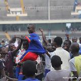 – La joie des supporteurs des Léopards espoirs-football après le match ce 26/07/2011 au stade des Martyrs à Kinshasa, lors du match aller du dernier tour des éliminatoires des Jeux Africains-Maputo 2011. Score RDC-Cameroun : 1-0. Radio Okapi/ Ph. John Bompengo