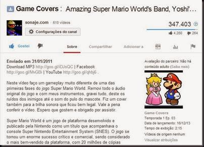 Descrição de vídeo - YouTube