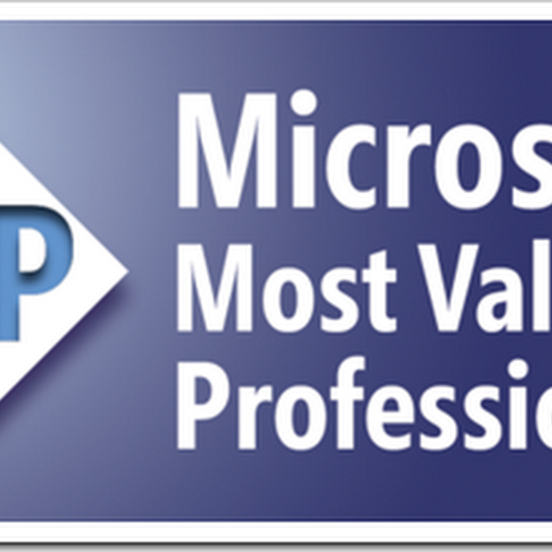 Guess who's a newly minted Microsoft MVP?