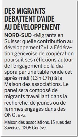 migrant débat genève
