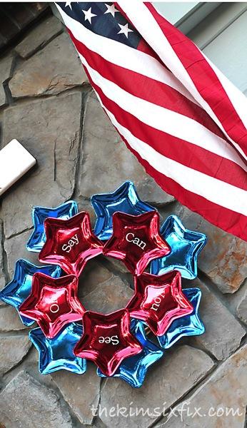 Shiny Star Wreath