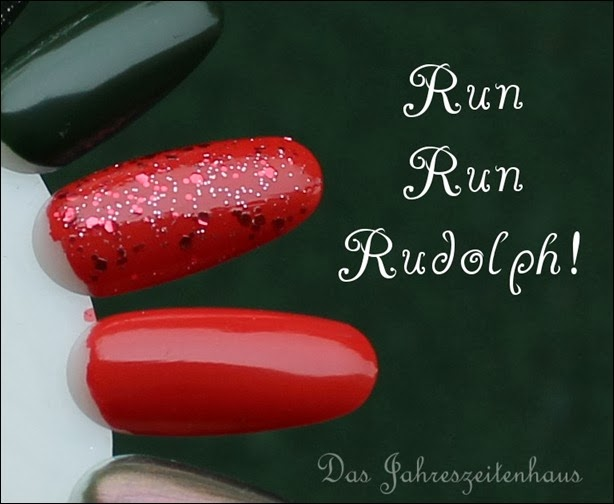 Essence Happy Holidays Nagellack Duo 02 Run Run Rudolph Swatches 2