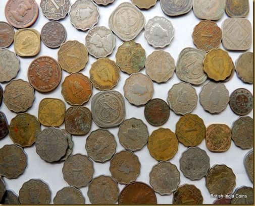 British India Coins - Average Condition of Copper Nickel Coins