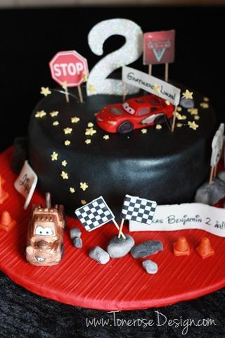 bilkake _cars_bursdag_barnebursdag_kake