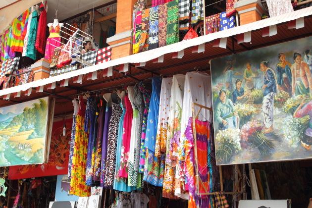 A shop in Sukowati Market, Ubud, Bali