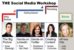 Social media workshop speakers (click to enlarge)
