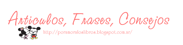 Seccion articulos, frases, consejos