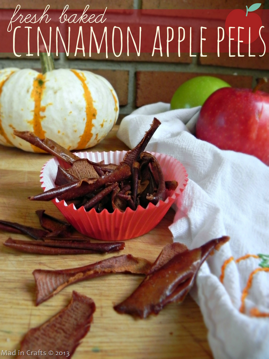 Fresh Baked Cinnamon Apple Peels