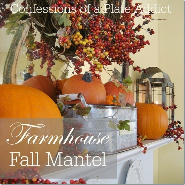 CONFESSIONS OF A PLATE ADDICT Farmhouse Fall Mantel