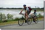 biking through the wetlands in Chincoteague VA