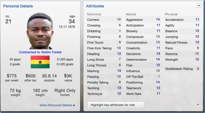 Eric Addo in Football Manager 2013