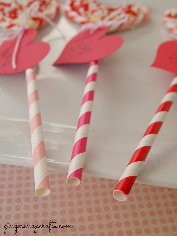 #valentine paper straws