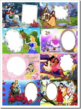 Princesas da Disney–Molduras PNG