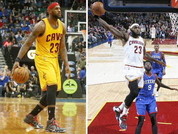 LBJ Debuts Court Vision vs TWolves amp BlackWhiteRed PE vs 76ers