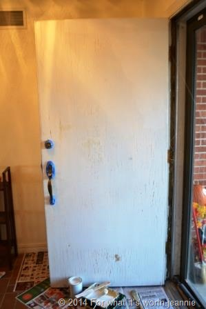 door needs paint