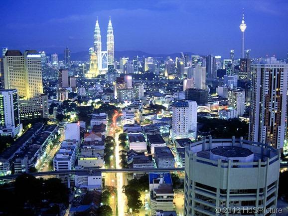 pemandangan Kuala Lumpur, ibukota Malaysia