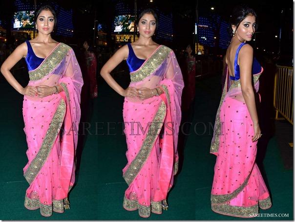 Shriya_Pink_Manish_Malhotra_Saree