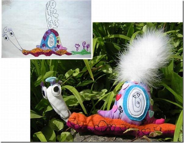 Brinquedos de pelúcia feitos a partir de desenhos de crianças (16)