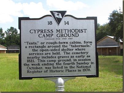Cypress campground, summerville, SC