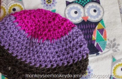 colorblock purple hat