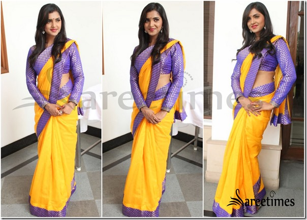 Sanchitha_Padukone_Yellow_Saree