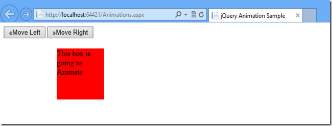 Animation using jQuery