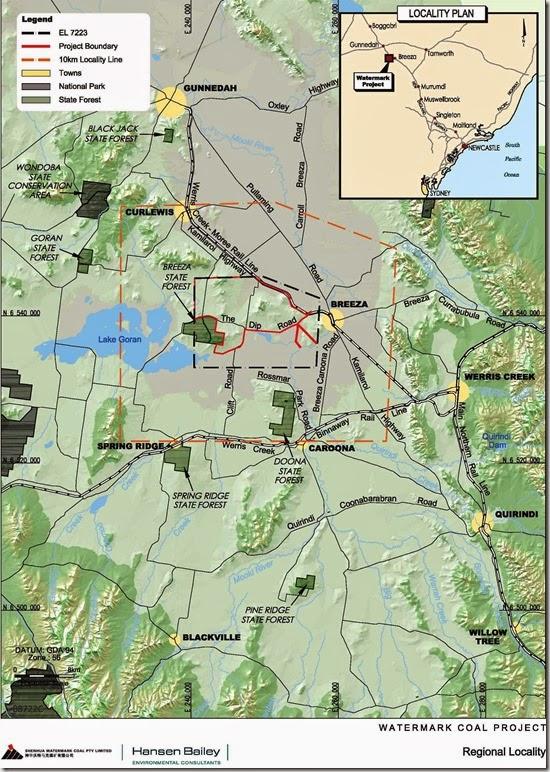 Watermark Coal map