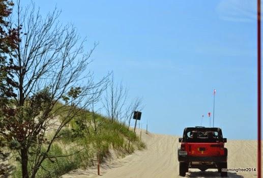 Onto the sand!