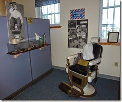 Barber shop Air Force display at museum