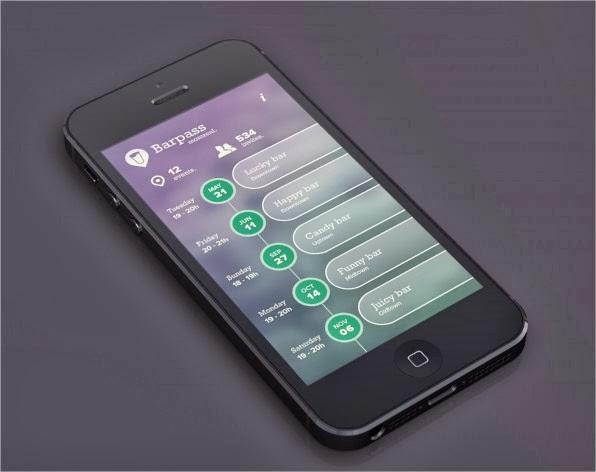 19 increíbles interfaces de aplicaciones móviles hechas para iOS 7 11